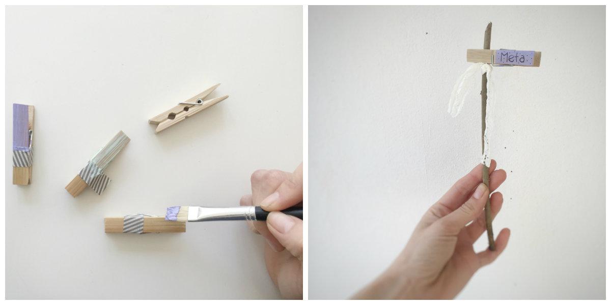 Leseno paličico lahko okrasite s trakovi, ali pa vanjo vrežete vzorce.